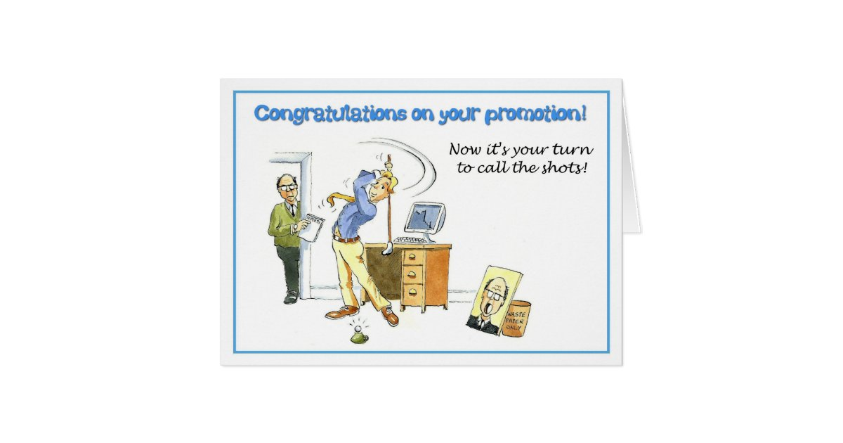 Congratulations on your promotion. card | Zazzle.co.uk