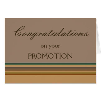 Congratulations on your Promotion Note Card