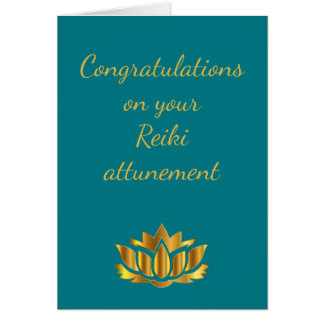 Congratulations on your Reiki attunement Card