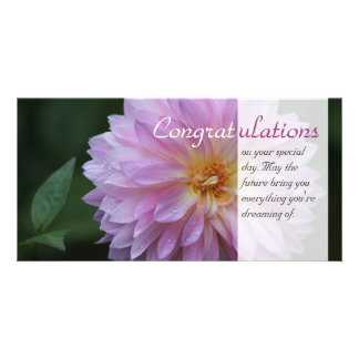 Congratulations on your special day CC0769 Personalised Photo Card