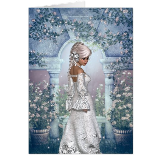 Congratulations on your Wedding with Summer Bride Card