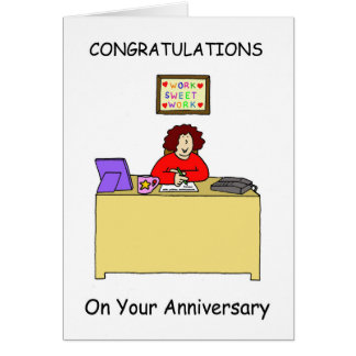 Congratulations on your work anniversary, female. greeting card