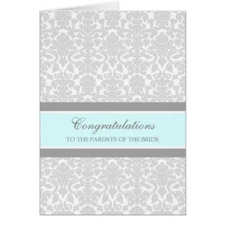 Congratulations Parents of the Bride Blue Gray Card