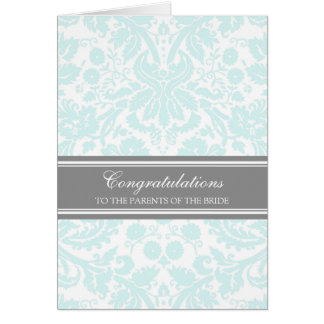 Congratulations Parents of the Bride Sky Blue Greeting Card
