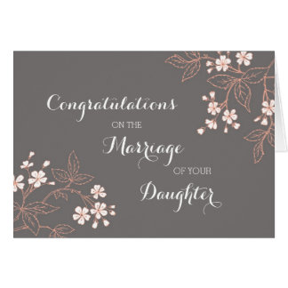 Congratulations Parents of the Bride Vintage Card
