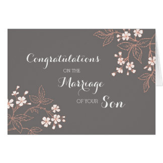 Congratulations Parents of the Groom Vintage Greeting Card