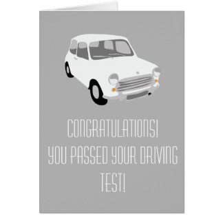Congratulations! Passing driving test card