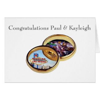 Congratulations Paul and Kayleigh Greeting Card