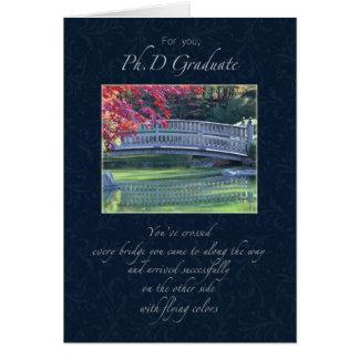 Congratulations Phd Graduate Greeting Card