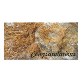 Congratulations photo card - Rock