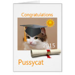 Congratulations, Pussycat Greeting Card