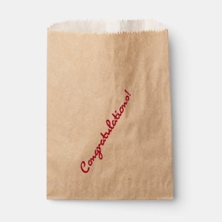 Congratulations Red Casual Script Favour Bags