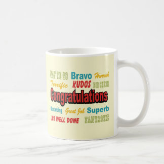 Congratulations Retro Colors Coffee Mug