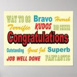 Congratulations Retro Colours Poster
