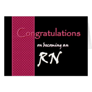 Congratulations RN - Custom Name New Graduate Greeting Card