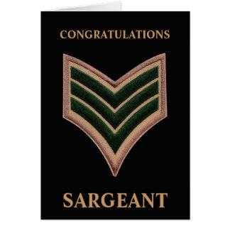 Congratulations Sargeant Card
