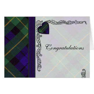 Congratulations - Scottish Tartan Barclay Blank Card