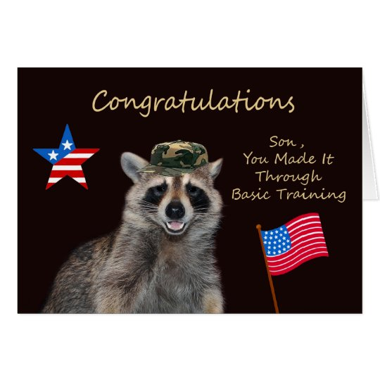 Congratulations Son, Basic Training Greeting Card