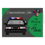 Congratulations, Son, Police Officer Greeting Card