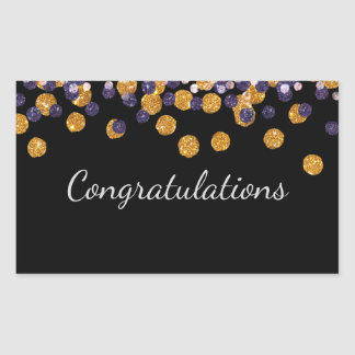 Congratulations Sparkle Rectangular Sticker