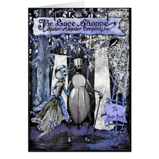 CONGRATULATIONS! SPOOKY BRIDE & GROOM GREETING CARD