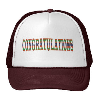 CONGRATULATIONS Success Excellence Event GIFTS Mesh Hats