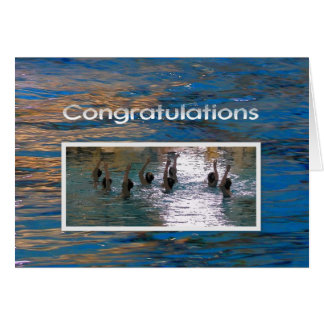 Congratulations Synchronized Swimming Card