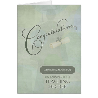 Congratulations Teaching School Graduate w-name Card