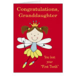 Congratulations to Granddaughter, lost first tooth Greeting Card