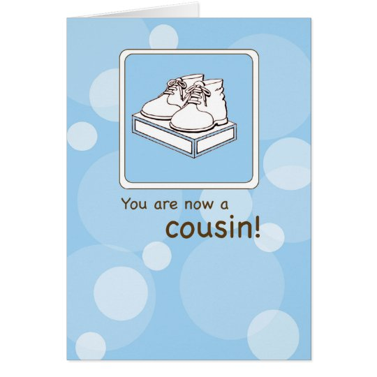 Congratulations to New Cousin, Baby Shoes Card