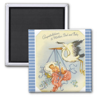 Congratulations to New Mom and Dad Keepsake Magnet
