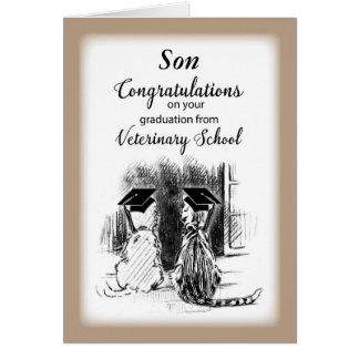 Congratulations to Son Veterinary School Gra Card
