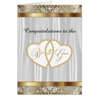 Congratulations to the Bride and Groom - Wedding Greeting Card