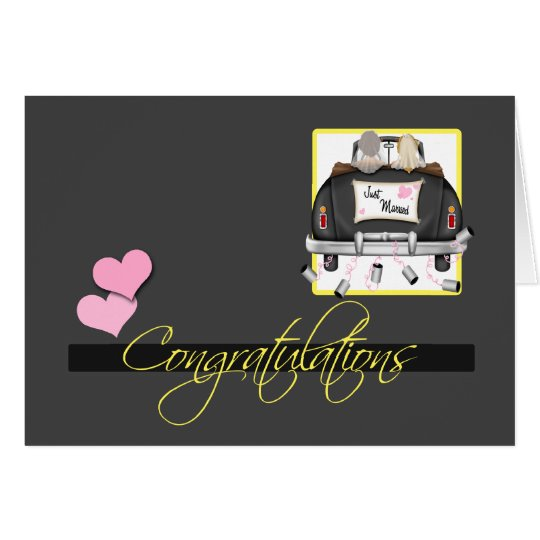 Congratulations To The Brides Wedding Card