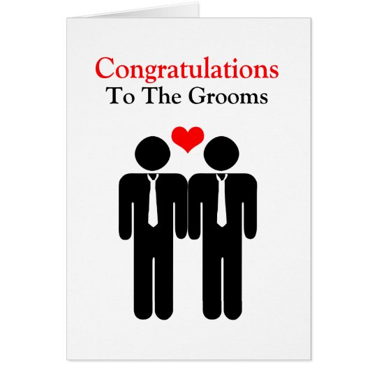Congratulations To The Grooms Wedding Card
