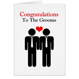 Congratulations To The Grooms Wedding Greeting Card