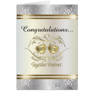 Congratulations to the Mr and Mrs Wedding Card