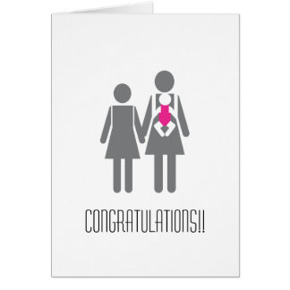Congratulations to Two New Moms Card