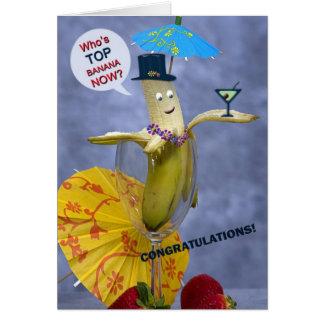 Congratulations Top Banana Greeting Card