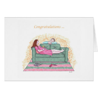 Congratulations-Upcoming blessed event Greeting Card
