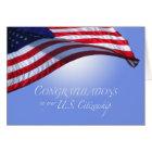 Congratulations US Citizenship US Flag Flying Sun Card