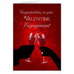 Congratulations Valentine's Day Engagement Greeting Card