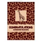 Congratulations Veterinary Graduate Giraffe Print Card