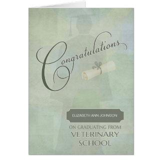 Congratulations Veterinary School Graduate w-Name Card