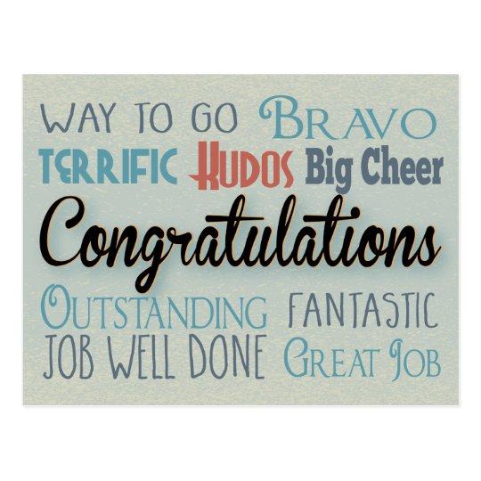 Congratulations - Way To Go Postcard