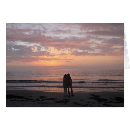 Congratulations Wedding beach couple Card
