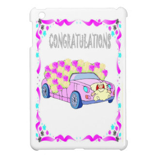 congratulations, wedding car iPad mini cases