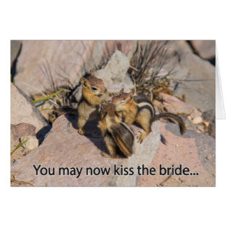 Congratulations Wedding Chipmunk Card