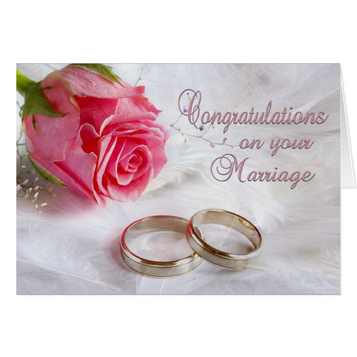 Congratulations Wedding Marriage Greeting Card