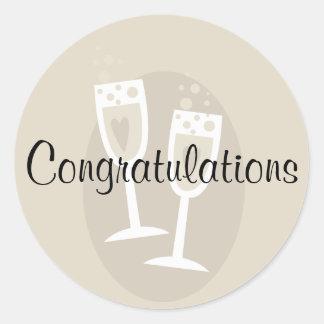 Congratulations Wedding Sticker
